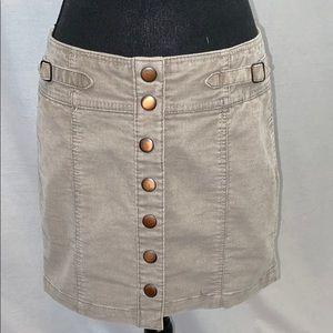 Gap Corduroy snap front mini skirt